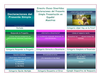 Present Simple Tense  Spanish PowerPoint Presentations
