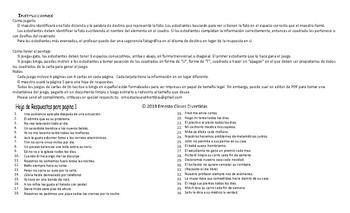 Present Simple Tense Statements Spanish Legal Size Photo Tic-Tac-Toe-Bingo Game