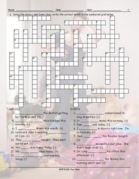 Present Simple Tense-Verb Be Crossword Puzzle
