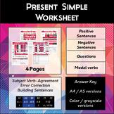 Present Simple Tense Worksheet