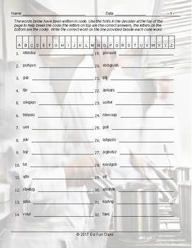 Present Simple Tense with Question Words Decoding Worksheet