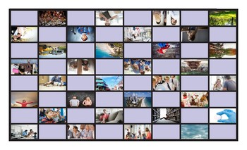 Present Simple Tense with Verb Be Legal Size Photo Checkers Game