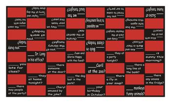 Present Simple Tense with Verb Be and Yes-No Questions Checker Board Game
