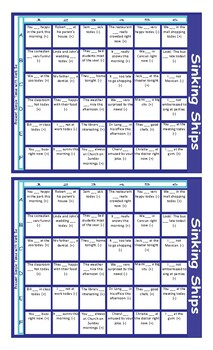 Present Simple Verb Be Pos/Neg Statements/Contractions Battleship Board Game
