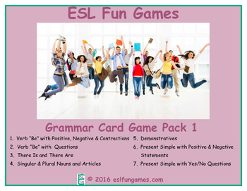 Grammar Card Games Pack 1 Game Bundle