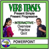 Present Simple and Progressive Verb Tenses PowerPoint Distance Learning
