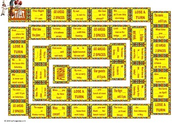 Present Simple Or Continuous For Future Use Animated Board Game Tpt