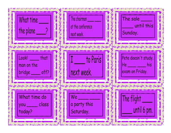 Present Simple or Continuous For Future Use Cards