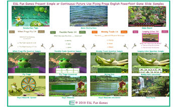 Present Simple or Continuous-Future Use Flying Frogs English PowerPoint Game