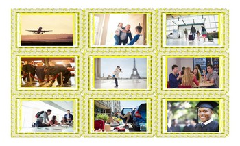 Present Simple or Continuous for Future Use Legal Size Photo Card Game