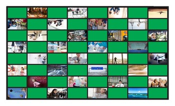 Present Simple or Continuous for Future Use Legal Size Photo Checkers Game