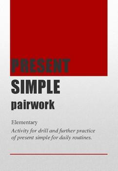 Present Simple pairwork elementary