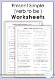 Present Simple ( verb to be ) Worksheets