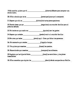 Present Subjunctive