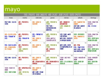 Spanish Present Subjunctive Calendar Activity