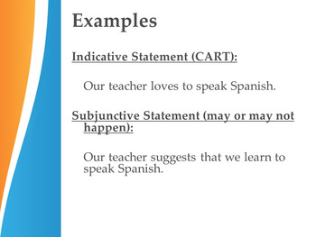Present Subjunctive Formation Notes Presentation