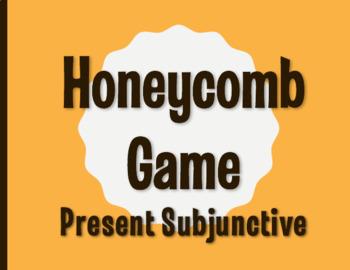 Spanish Present Subjunctive Honeycomb Partner Game