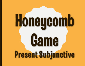Spanish Present Subjunctive Honeycomb Partner Game