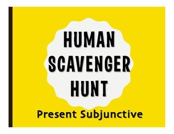 Spanish Present Subjunctive Human Scavenger Hunt
