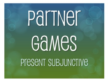 Spanish Present Subjunctive Partner Games