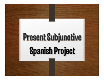 Spanish Present Subjunctive Project:  La Consejera