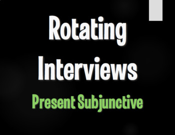 Spanish Present Subjunctive Rotating Interviews