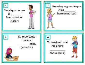 Subjunctive Spanish Task Cards: Subjuntivo - WEIRDO