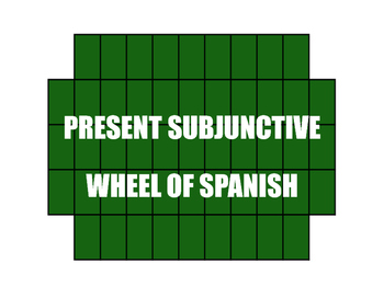Spanish Present Subjunctive Wheel of Spanish