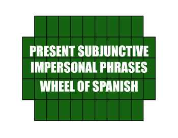 Spanish Present Subjunctive With Impersonal Phrases Wheel of Spanish