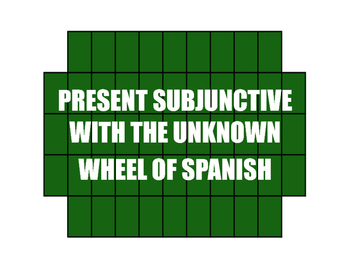 Spanish Present Subjunctive With The Unknown Wheel of Spanish