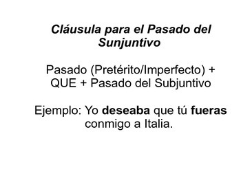 Present Subjunctive vs Past Subjunctive