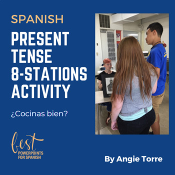 Present Tense, 8 Station Activity in Spanish