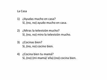 Present Tense, 8 Station Activity in Spanish