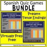 Present Tense AR, ER, & IR Quiz Game Show BUNDLE