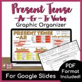 Present Tense AR, ER, IR Verb Graphic Organizer | PRINT + DIGITAL