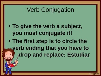 Present Tense -AR Spanish Verb Conjugation and Negation Lesson
