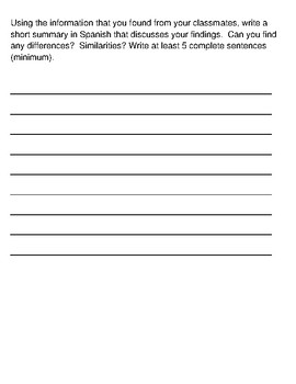 Present Tense AR Speaking activity/Interview and writing