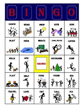Present Tense AR Verbs Bingo