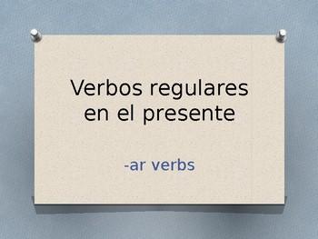 Present Tense -AR Verbs Conjugation Whiteboard Practice