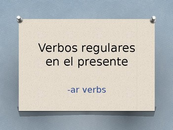 Present Tense -AR Verbs Conjugation Whiteboard Practice