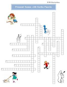 Present Tense -AR verbs conjugation puzzle