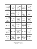 Present Tense Auxiliary Verbs Memory Game