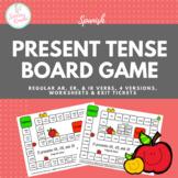 Present Tense Conjugation Board Game (Regular AR, ER, and