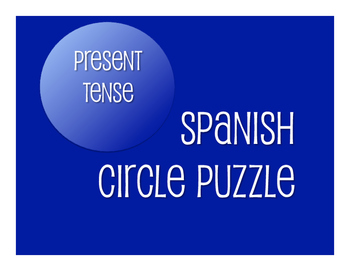 Spanish Present Tense Circle Puzzle