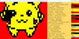 Present Tense Conjugation -AR -ER -IR Verbs (Pixel Art)