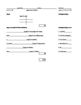 Present Tense Conjugation Jugar Smart Goal Avancemos 1 Unidad 6 Lección 1