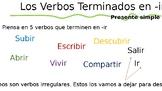 Present Tense Conjugation Verbs Ending in IR