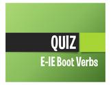 Spanish E-IE Boot Verb Quiz