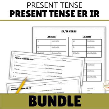 Present Tense ER IR Verbs (Regular Verbs Only!) BUNDLE