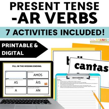 Present Tense AR Verbs (Regular Verbs Only!) BUNDLE